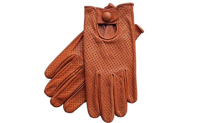 RIPARO LEATHER MESH DRIVING GLOVES