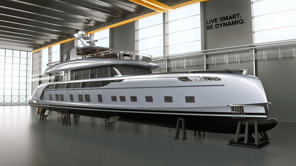 Dynamiq-gtt-115-superyacht - Porsche Yacht Design