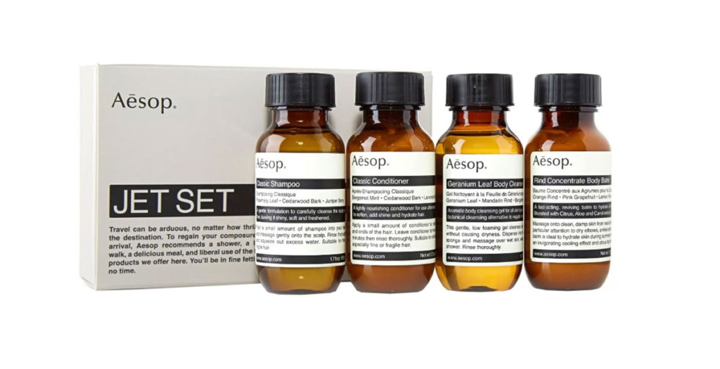 Christmas gift ideas for him and her - Aesop Jet set kit